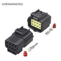 Conector de cableado sellado a prueba de agua Tyco AMP Denso, enchufe automático para Sensor de oxígeno del motor Yuchai 174984-2 174982-2, 8 pines Way, 2 juegos