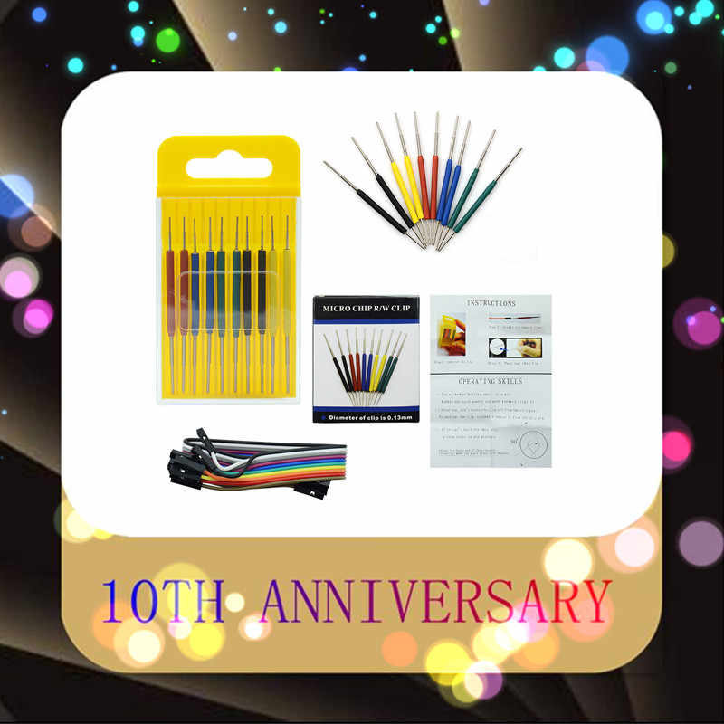2020 Micro morsetto IC SOP/SOIC/TSSOP/TSOP/SSOP/MSOP/PLCC/QFP /TQFP/LQFP/ SMD IC chip di test pin mini chip adattatore presa