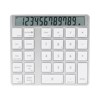 Bluetooth 2-In-1 Numeric Keypad Calculator Display Switch Charge Calculator Portable Mini Computer