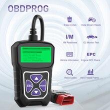 OBDPROG MT100 OBD2 otomotiv tarayıcı araba kod okuyucu tarayıcı araçları otomatik araç teşhis aracı makinesi araçları PK Elm327