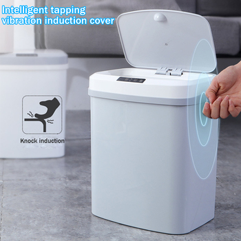 12-15л Электрический мусорный бак Автоматический Бесконтактный Интеллектуальный индукционный датчик движения кухонный мусорный бак эколог...