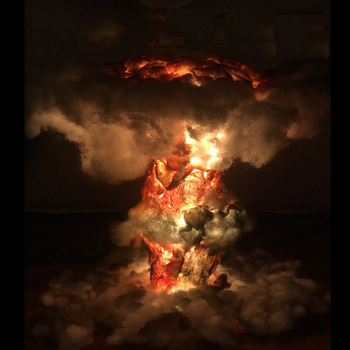 Table Lamp Mushroom Cloud Lamps Nuclear Explosion Decoration Creative Home Decor For Bedroom novedades mas