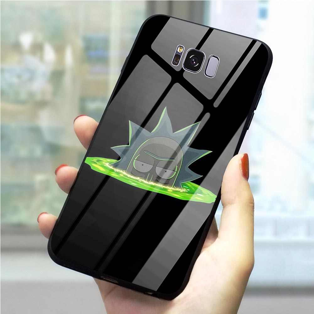 Telefoon Case Voor Galaxy S8 Rick en Morty Gehard Glas Cover Note 8 9 S7 Rand S8/S9 Plus s10 A10/20/30/40/50/60/70 M40