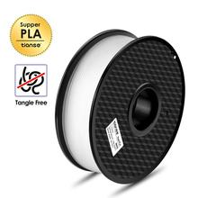 TIANSE PLA Filament 1.75mm 1kg Neat Winding For 3D Printer No tangle Print Smoothly Degradable Plastic Material for Printing