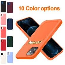 Saco de cartão original silicone macio caso de luxo para apple iphone 11 12 pro max mini 7 8 plus xr x xs à prova de choque caso protetor capa