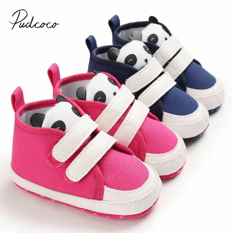 2020 Baby Eerste Wandelaars Pasgeboren Baby Jongen Meisjes Soft Sole Crib Schoenen Cartoon Schoenen Anti-slip Canvas Sneaker