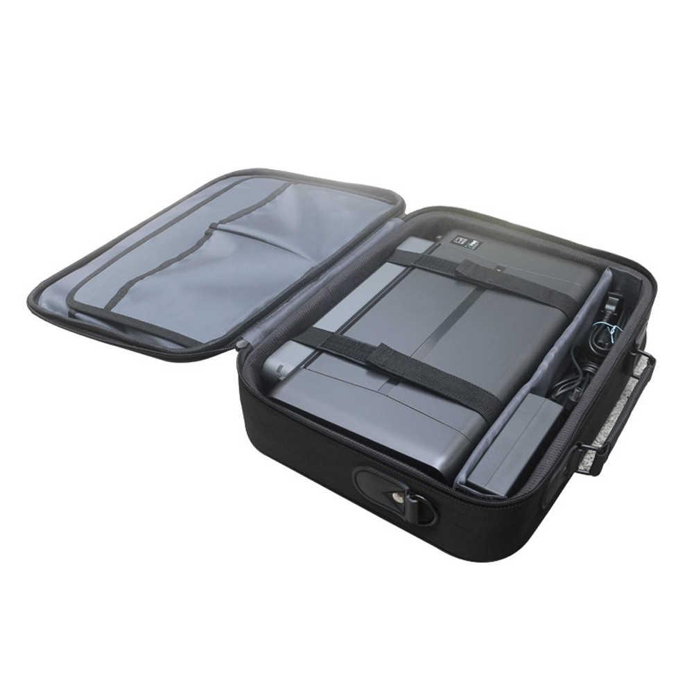 مع مقصورات الأعمال انفصال حقيبة التخزين طابعة محمولة مكتب متعددة الوظائف مقبض علوي قابل للتعديل حزام ل HP 258