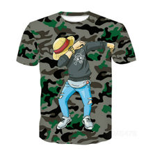 3D effect short-sleeved T-shirt people interesting Japanese anime Gothic punk 3D clothing 2020 summer new style