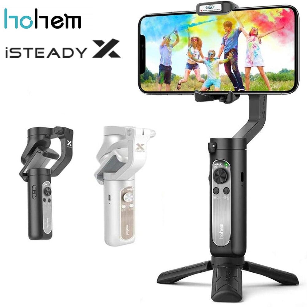 Hohem isconstante x cardan estabilizador 3-axis para smartphone leve dobrável cardan de telefone para iphone 11 pro max xs 12 x samsung
