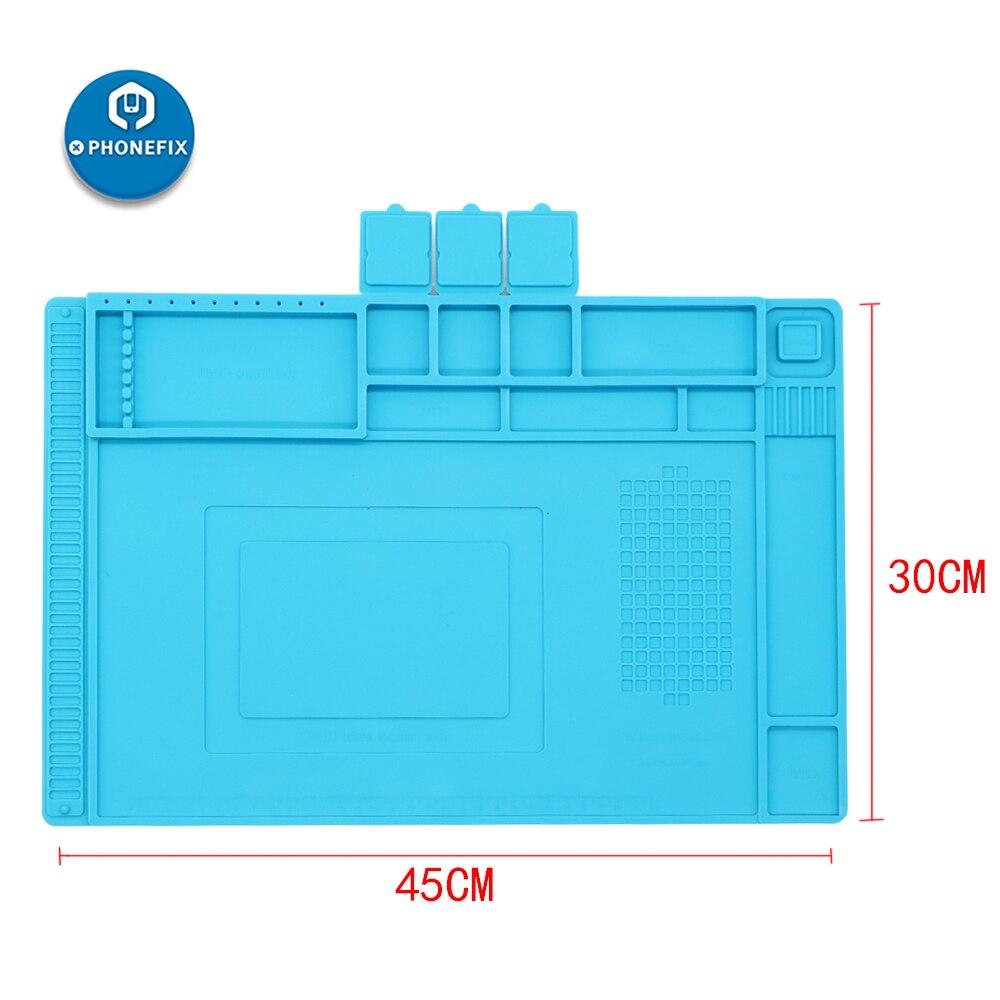 Heat Phone For Pad Soldering Repair Platform PCB Repair Cell BGA Maintenance Desk Tools Mat PHONEFIX Insulation 45x30CM Silicone