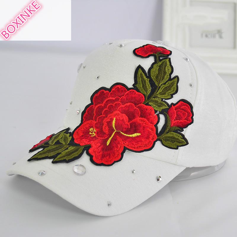 2019 New Real Gorras Women Pokemon Go Dad Hat Neymar Embroidered Rose Duck Tongue Cap Lady's Decorated Baseball Summer Sunshade 4