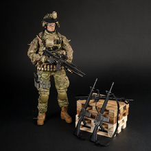 цена на 12'' Soldier Action Figure Accessories 1/6 Scale Black US Army M16 Rifle Model Gun Toys
