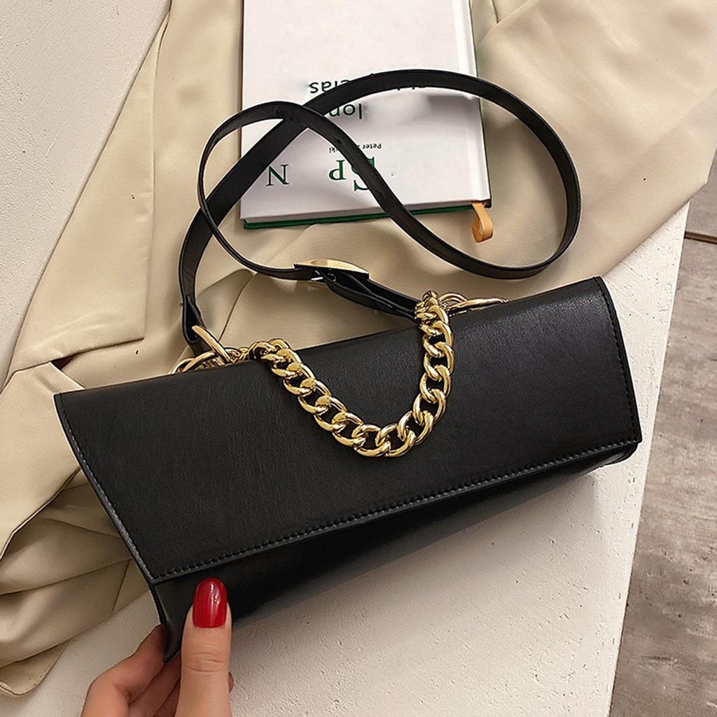 Women's Fashion Trend Outdoor Solid Color Leather Shoulder Bag Messenger Bag Large Capacity Ladies H