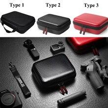 Dla DJI Osmo Mobile 4 3 PU/nylonowa torba kardana ręczna Mini futerał do przenoszenia worek do przechowywania z prętem statyw do akcesoriów DJI OM4