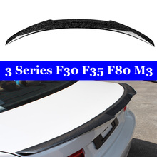 New M4 Style Back Wing Lip For BMW 3 Series F30 F35 F80 M3 Forged Carbon Spoiler 320i 328i 335i 326D 2012-2018 for bmw f30 f80 m3 spoiler carbon fiber material m performance style 2012 up 320i 328i 335i 326d f30 carbon fiber