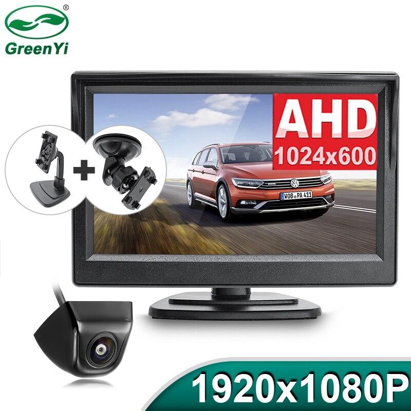 HD AHD 1920*1080P 5 дюймов Автомобильный парковочный для контроля уровня сахара в крови с объектив «рыбий глаз», ночное видение, Ночное видение Авто...