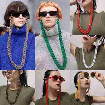 Glasses Hanging Neck Chain Men And Women Punk Beads Lasso 9 Color Long Necklaces WomenS Fashion