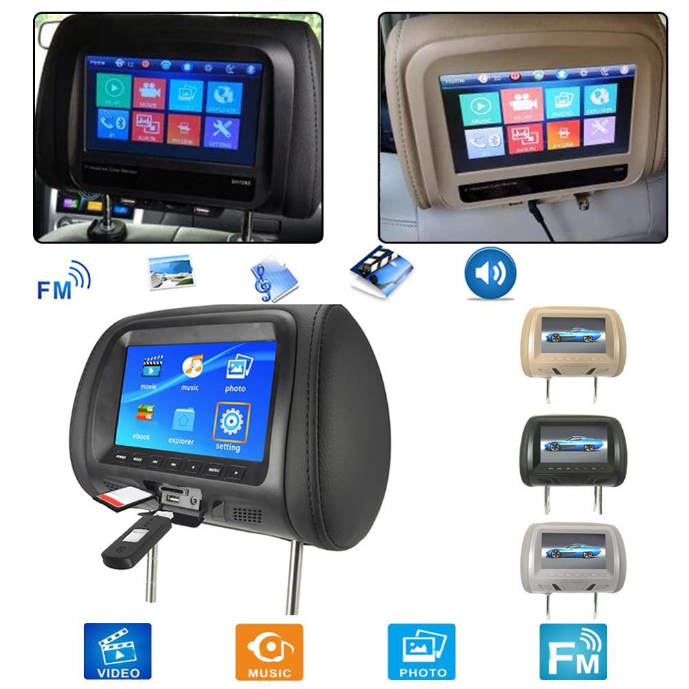 2020 25 см x 13 см x 18 см 7 дюймов FM/AM подголовник заднего сиденья автомобиля Bluetooth ЖК-дисплей пульт дистанционного управления MP5 плеер монитор 12 В DC
