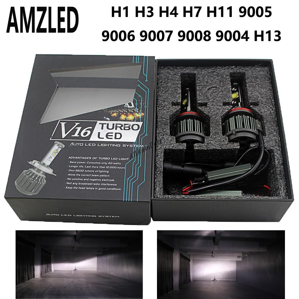 80W 7200LM H7 CREE LED Lamp Headlight Kit Car Beam Bulbs 6000k White 12V Upgrade