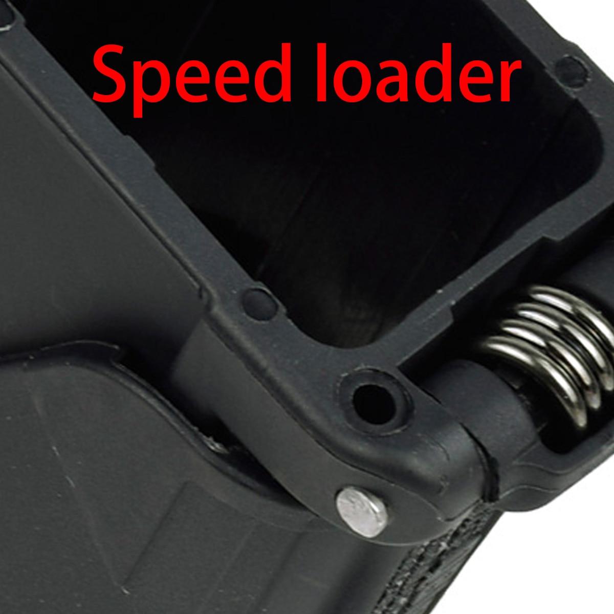 Carregador de velocidade do compartimento de munição para 9mm .40 .357 .45 .22 22lr para quase glock 1911 cz 75 p320 pistola