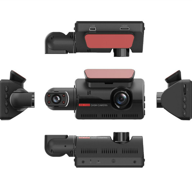 Fhd car dvr dash camera dual record hidden 1080p night vision parking monitoring g-sensor