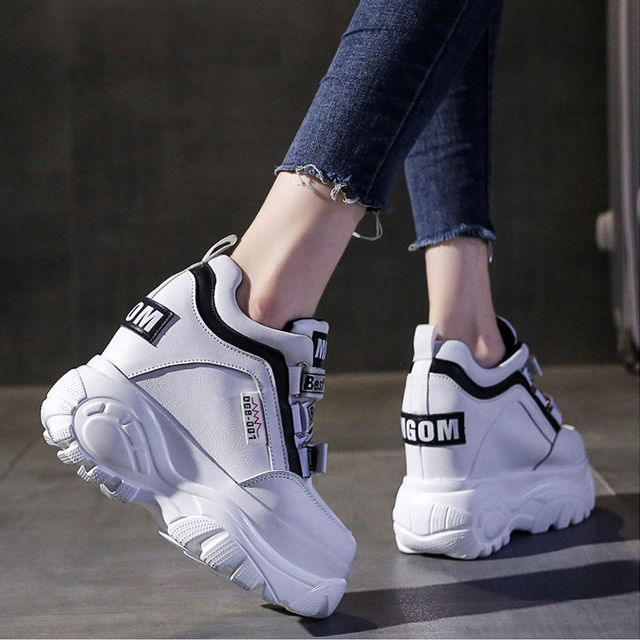 thick soled high daddy shoes girls sponge cake casual super фотография