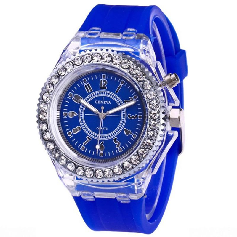 Outdoor Watch Fashion Women Men Cool LED Night Luminous Colorful Silicone Sports Practical Wristwatches