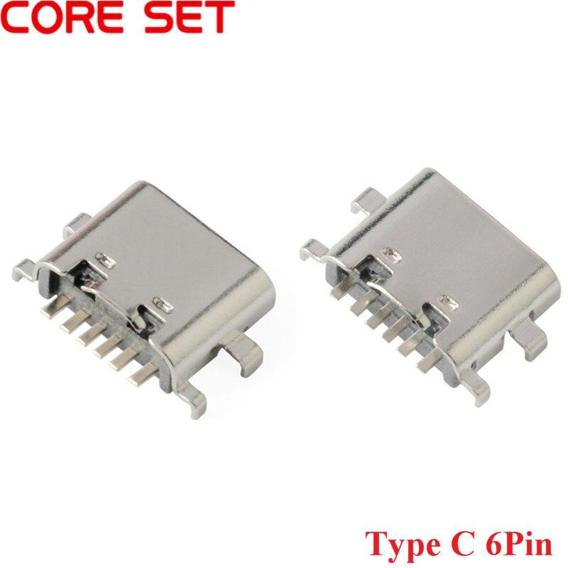 10 шт., разъем Micro USB Type-C 3,1, 6 штырьков