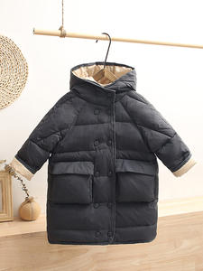 Coats Jacket Snow-Wear Hooded White-Duck-Down Boys Winter Girls Kids HYLKIDHUOSE Child
