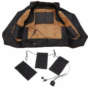 8/5/3pcs USB Electric Heated Jacket Heating Pad 3 Gear Adjustable DIY Heated Clothing Carbon Fiber Heated Clothes Pad Dropship