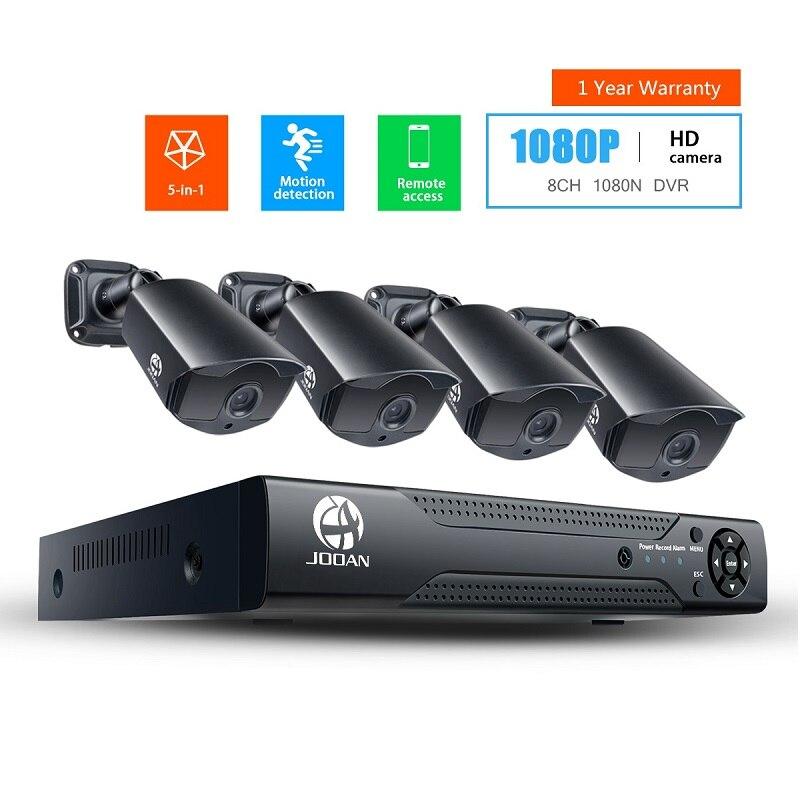 8ch dvr sistema de cctv HD-TVI dvr kit 4ch 1080p câmera segurança em casa à prova dwaterproof água ao ar livre visão noturna câmera vídeo kit vigilância