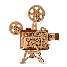 New DIY Model Building Kits Mechanical Model 3D Wooden Puzzle Film Projector Treasure Train Toys for Children LG/LK/AM rokr diy 3d wooden puzzle train model clockwork gear drive locomotive assembly model building kit toys for children adult lk701