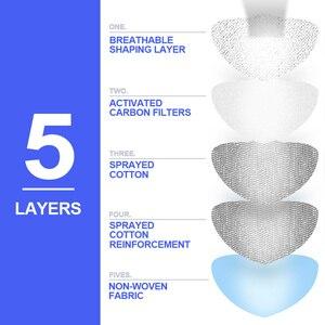 Image 2 - X tiger lavable sport entraînement cyclisme masque avec filtres charbon actif PM2.5 Anti Pollution cyclisme masque avec contour doreille