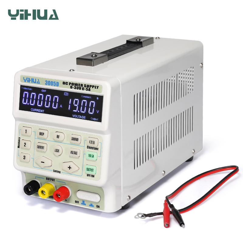 <font><b>5A</b></font> <font><b>30V</b></font> DC <font><b>Power</b></font> <font><b>Supply</b></font> <font><b>Adjustable</b></font> Laboratory <font><b>Power</b></font> <font><b>Supply</b></font> YIHUA 150W 3005D image