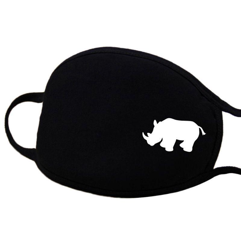 Wzór maski: biały nosorożec.