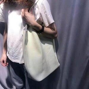 Image 2 - جلد طبيعي حقائب كتف حقيبة يد امرأة Vintage جلد البقر مركب حمل حقيبة تسوق حقائب عالية الجودة الكلاسيكية