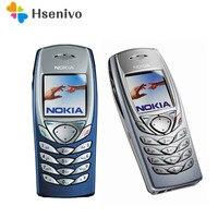 Разблокированный 100% оригинальный NOKIA 6100 дешевый GSM мобильный телефон Поддержка многоязычного языка отремонтированный Бесплатная доставка