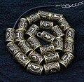 24 pçs sliver bronze viking charme padrão do vintage dreadlock grânulos para o estilo do cabelo acessórios esculpidos runa grânulos