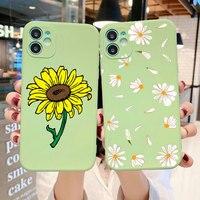 Lindo floral caída daisy funda para teléfono para iphone 11 pro max 6 6s 7s 7s 8 s 8 Plus X XR XS MAX de silicona TPU caso para iphone 12 pro SE 2020
