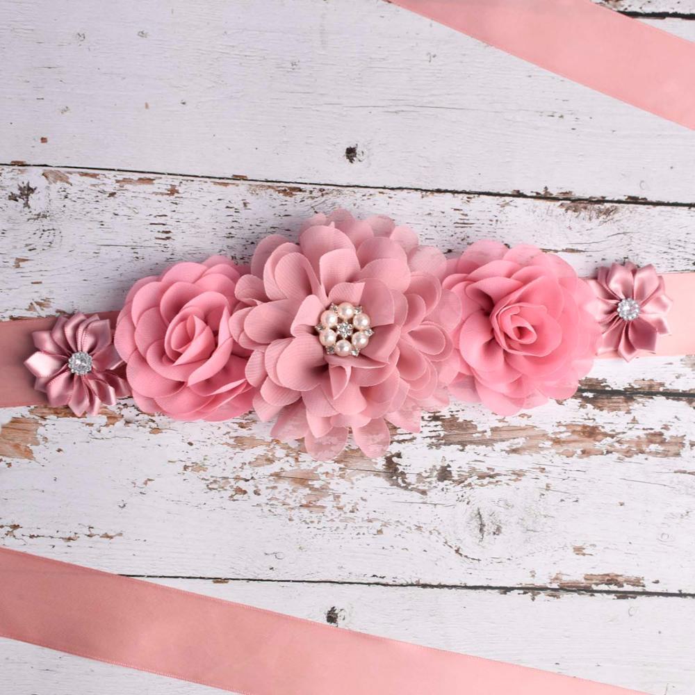 Wedding Sash Belt Pregnancy Sash Dusty Pink,Mauve Maternity Sash Belt
