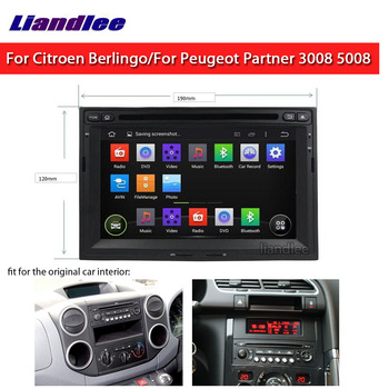 Car Radio DVD For Citroen Berlingo For Peugeot Expert/Partner/3008/5008 2008~2018 Android Autoradio Carplay GPS Map Navigation image