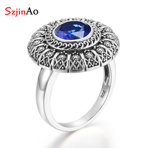 Szjinao Sapphire Ring Flower R