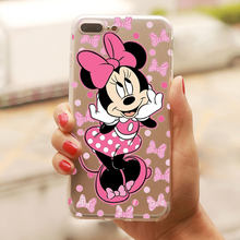 Cute minnie mickey phone Case for iPhone 5S SE 4S 6s 6 7 8 Plus X XR XS MAX Soft TPU Silicone cover for huawei p20 p10 p30 lite(China)