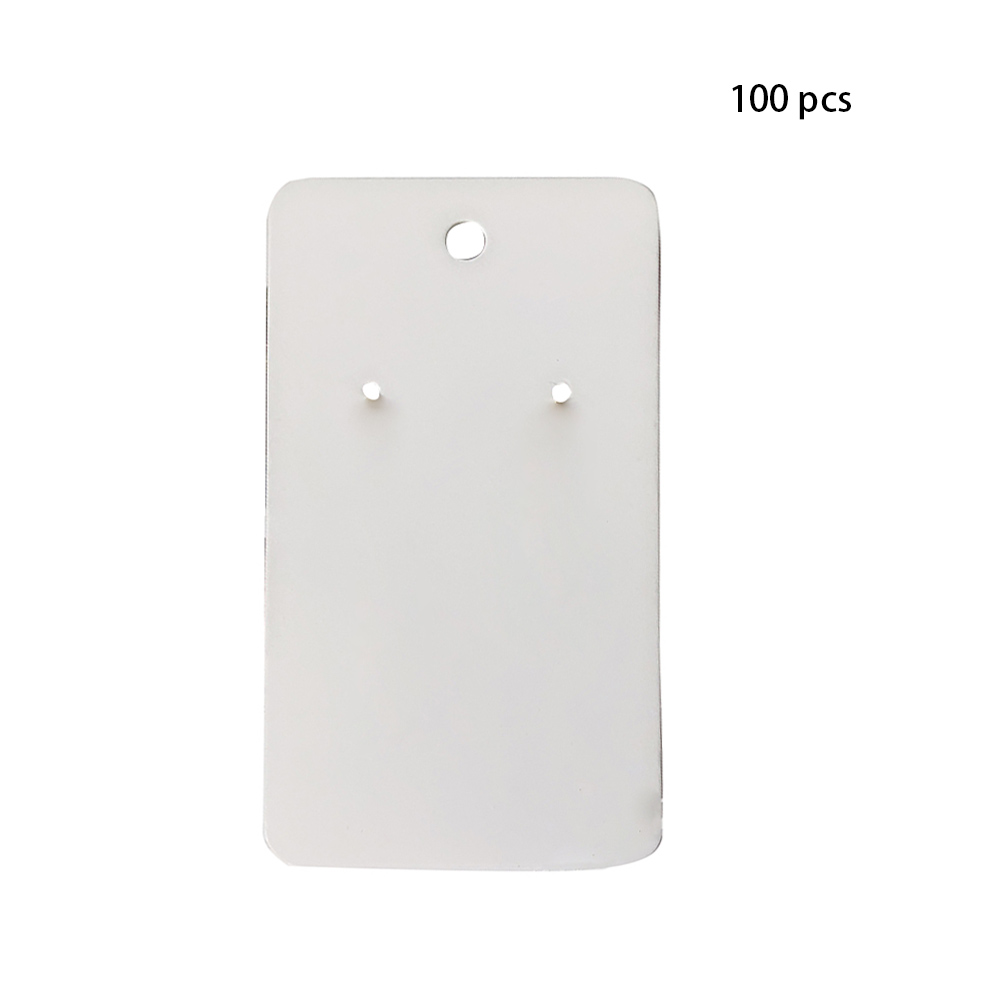 100Pcs Retro Tag Hanging Display Holder Package Label Earring Cards For Ear Studs Cardboard Paper Plain Gift Jewelry Accessories