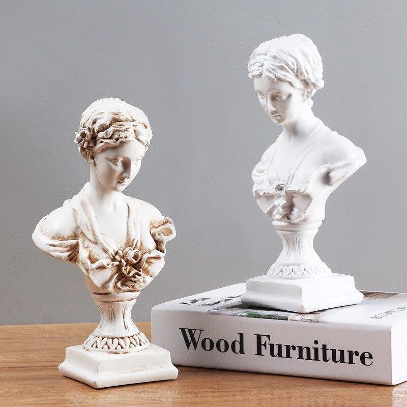 New 2021 Room Bedroom Living Room Decoration Ornaments Mini Small Sculpture Art Photo Ornaments Pure White Crafts Venus Statue