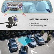 "Car Dvr Camera 4.0"" HD 1080P Rearview Camera Dual Lens Car Dash Camera Video Mirror Driving Recorder Night Vision Car Recorder"