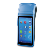 Handheld POS Computer Android 6.0 POS Terminal with 5 inch Touch 3G Wifi Bluetooth NFC Options PDA Thermal Printers