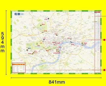 London travel map Chinese and English London subway map UK free travel London city tourist attractions recommended guide map
