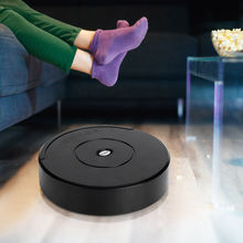 Черный Автоматический робот пылесос беспроводной умный для пола