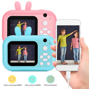 Children Camera Instant Print Camera For Kids 1080P HD Camera With Thermal Photo Paper Toys Camera Printing Camera Birthday Gift